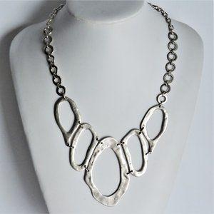 SAZZU Necklace Montreal Designer Silver Metal